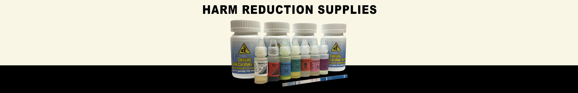Drug testing kits and other harm reduction supplies